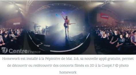 3.6 App ! Tes concertspréférés à 360° Ils parlent de nous